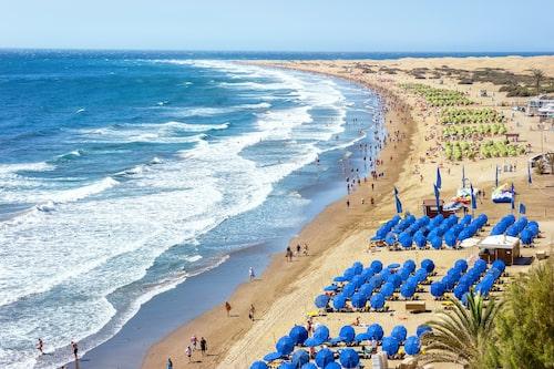 Playa del Inglés, här vet Oxen vad hen får.