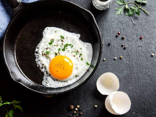 I äggvitan finns proteiner och selen