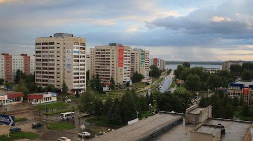 Utsikt över Oziorsk.