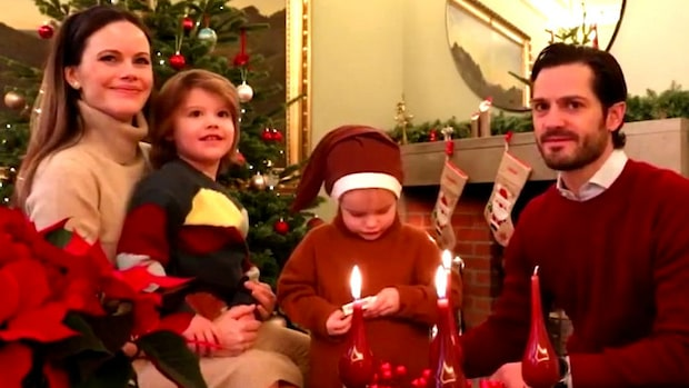 """Här är prinsfamiljens adventshälsning: """"Glad lucia!"""""""