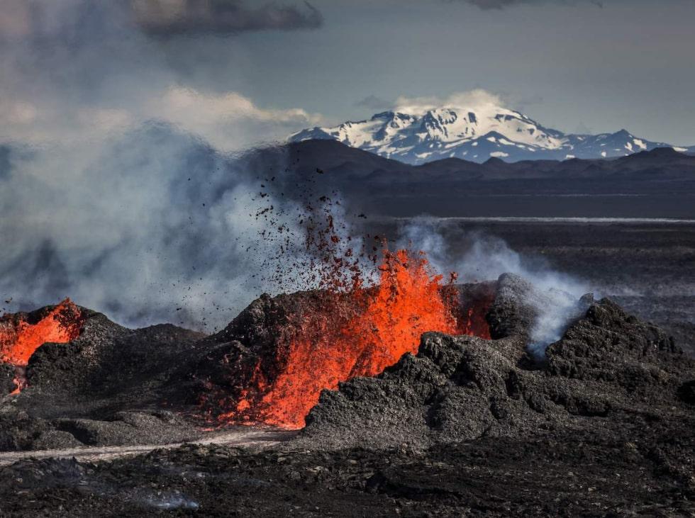 Vulkanen Bárðarbunga spydde ut magma under 2014 och 2015.