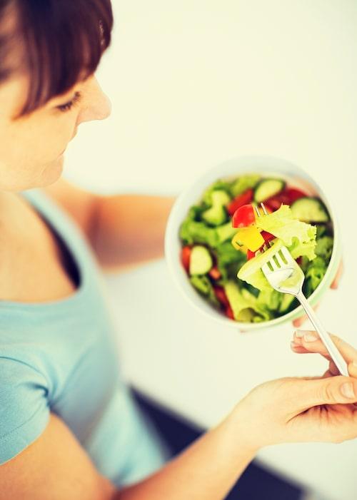 Goda matvanor med mycket frukt och grönsaker är bra för hälsan.