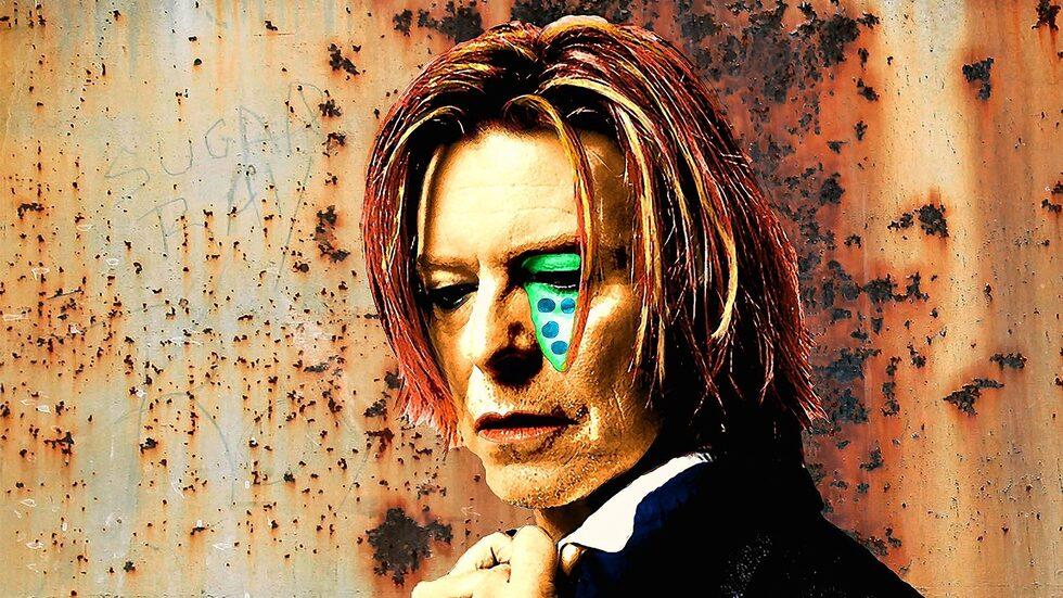Verket med David Bowie var ett av de första Per Siwmark gjorde, ett år innan David Bowie dog i cancer.