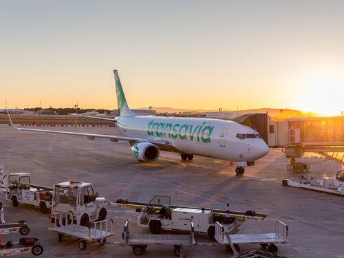 Bråket resulterade i att passagerarna portas från Transavia Airlines.