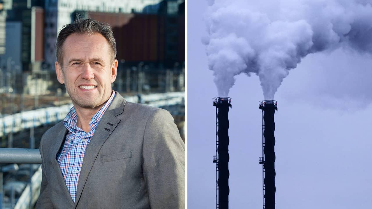Svante Axelsson svarade på frågor om fossila utsläpp