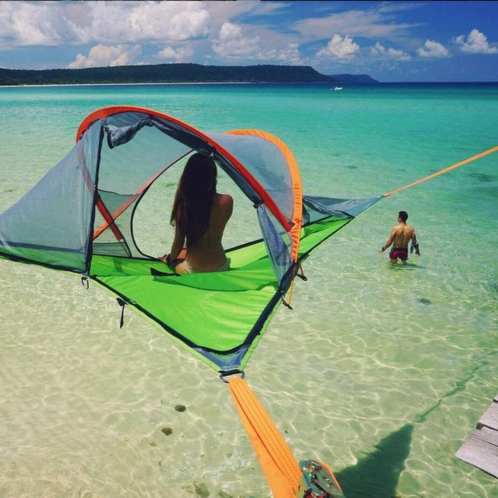 Här är tältet som tar dig till oanade höjder – bokstavligt talat.