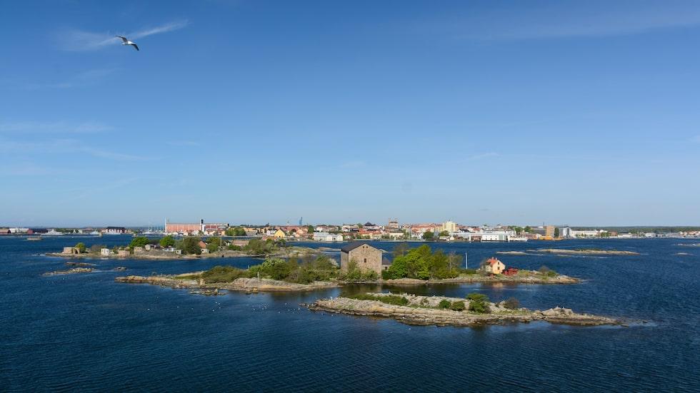 Inloppet till Karlskrona hamn.