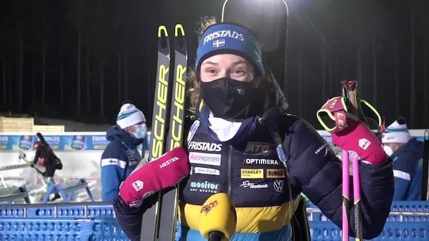 Hanna Öberg överlägsen i sprinten – hyllar svenska teamet