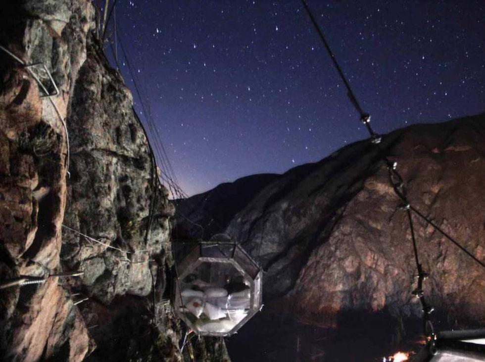 Nature Viva Skylodge ligger i Urubambadalen i de peruanska Anderna.