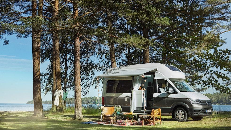 I sommar kan du semestra i en husbil utrustad som en hotellsvit.