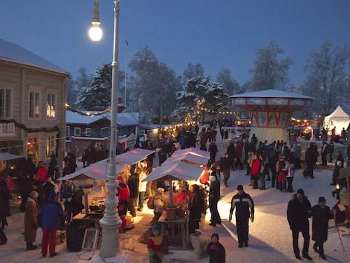 Sagolik marknad med hög snögaranti och mysfaktor.