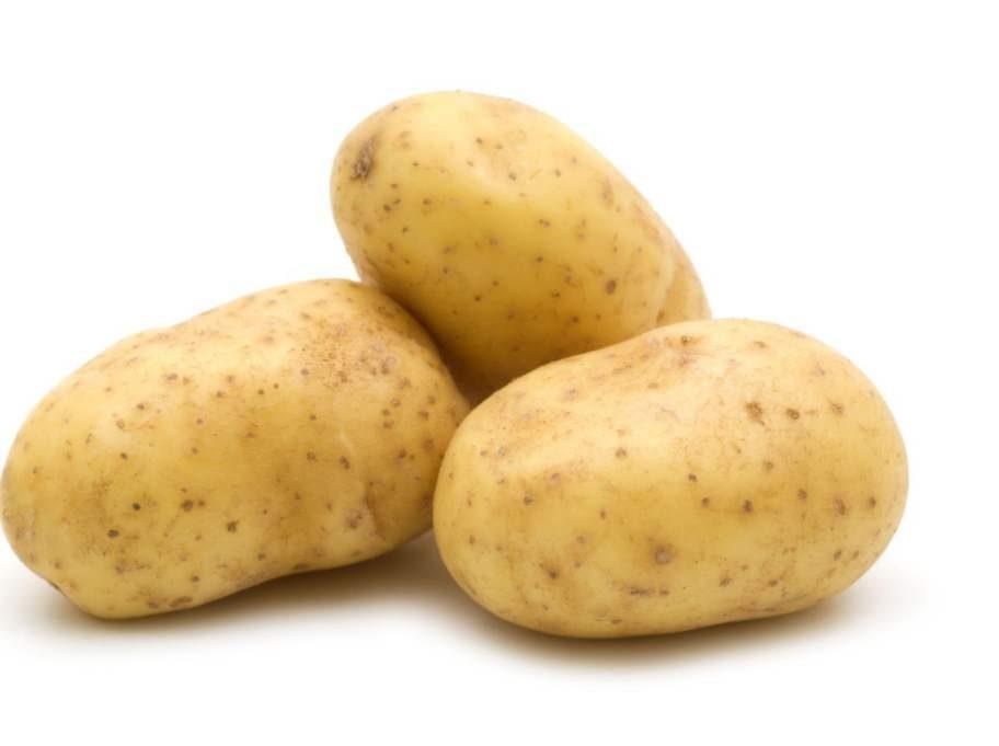 En mediumstor potatis, 0,25 tsk.