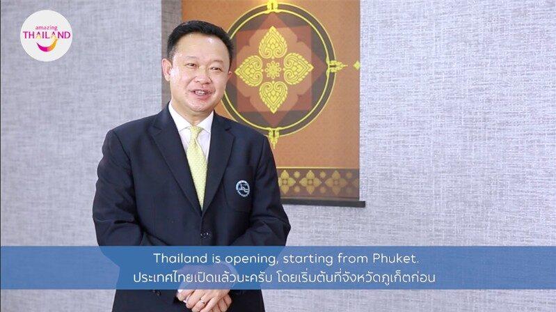 Yuthasak Supasorn, guvernör för Thailands turistmyndighet.