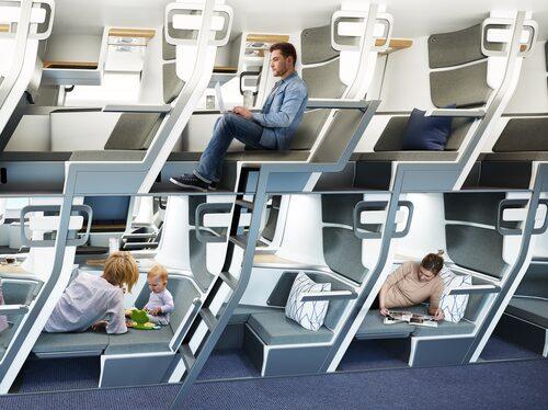 Dubbeldäckarsäten gör att fler passagerare kan få plats på samma utrymme.
