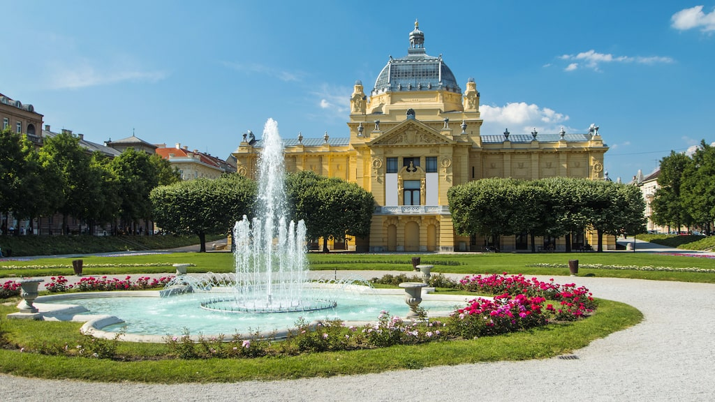 Zagreb, Kroatiens huvudstad, toppar listan.