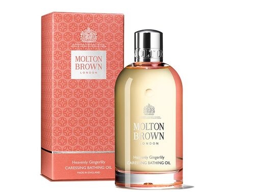 Badolja med arganolja, Molton Brown Heavenly gingerly caressing bathing oil.