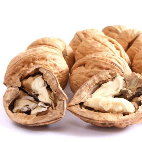 Valnötter är E-vitaminrikt.