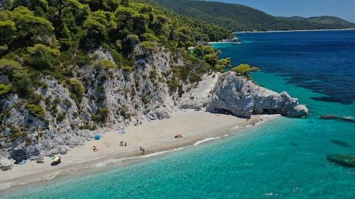 Vackraste stranden på Skopelos, Hovolo.