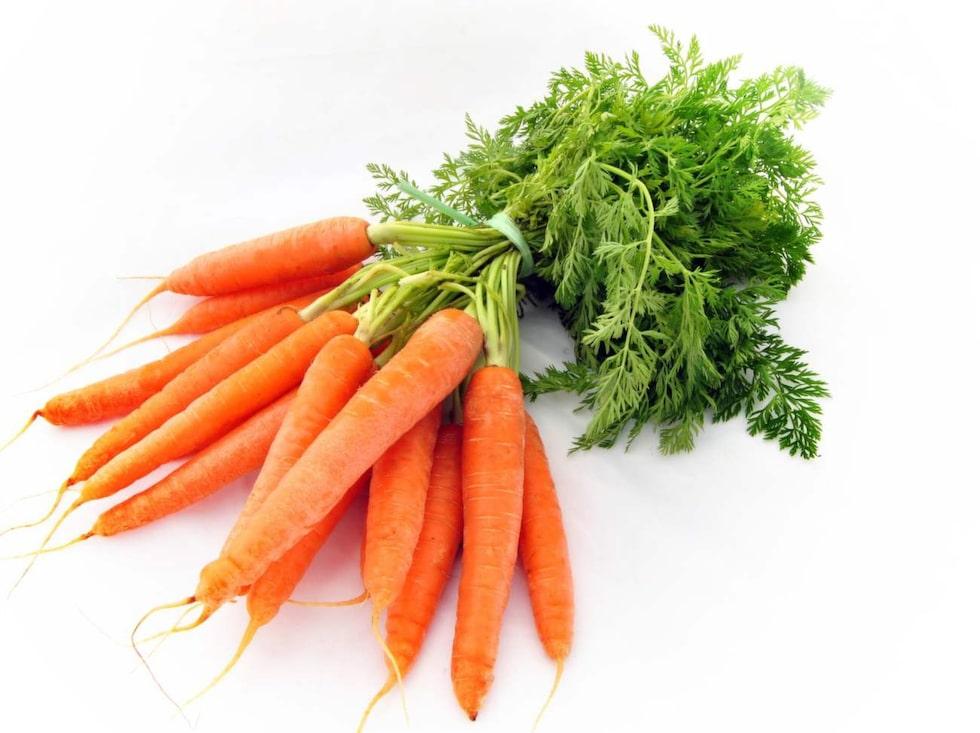 Morot. Rik på fibrer, mineraler och vitaminer som både mättar och ger näring. Innehåller mycket betakaroten.