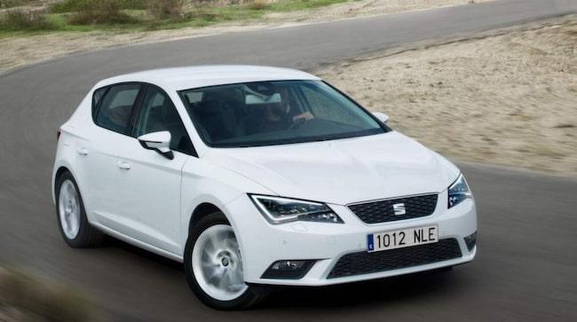 Seat Leon är bland de bästa på listan, med en förbrukning på 3,3 liter per 100 kilometer.