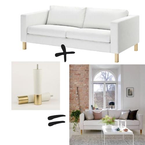 DIY-tips! Ikea-klassikern Karlstad piffas lätt upp med nya möbelben!