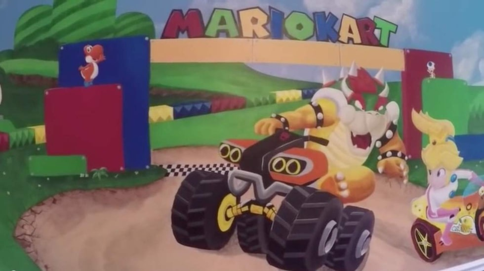 Pappan tillbringade ett och ett halvt år med att utforma barnkammaren till rörmokaren och spelfiguren Marios fantasivärld.