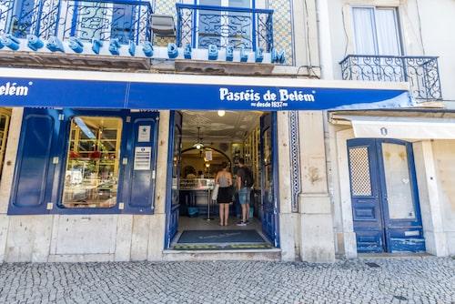 Pasteis de Belém, här säljs över 20 000 custard tart om dagen.