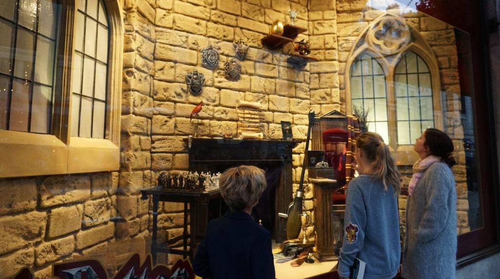 Leksaksaffären Hamley's på Regent street har tillägnat ett helt skyltfönster åt Harry Potter.