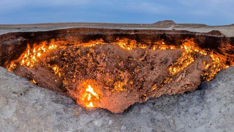 """""""Doors to hell"""", helvetesporten som ligger i Turkmenistan är känd världen över."""