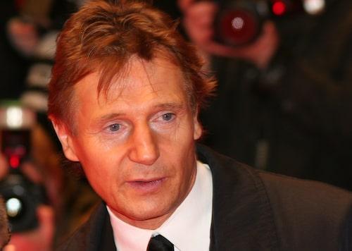 Liam Neeson flög högt med Lufthansa.