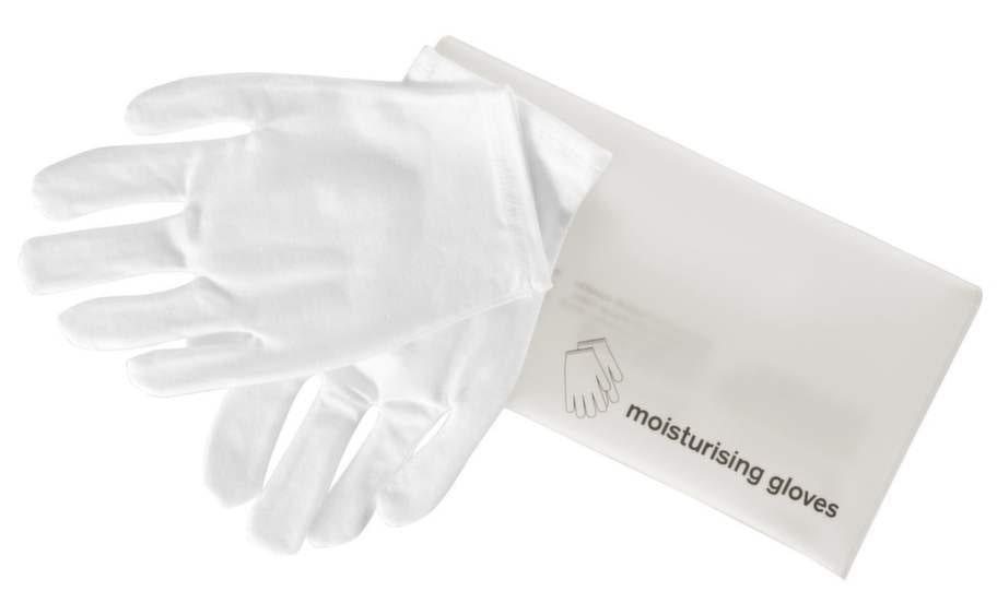 60 årVantar som förhöjer den fuktgivande förmågan hos din handkräm. Använd gärna över natten. Smörj in dina händer och sätt på vantarna. Tillverkade i bomull och elastan.45 kronor, ahlens.se