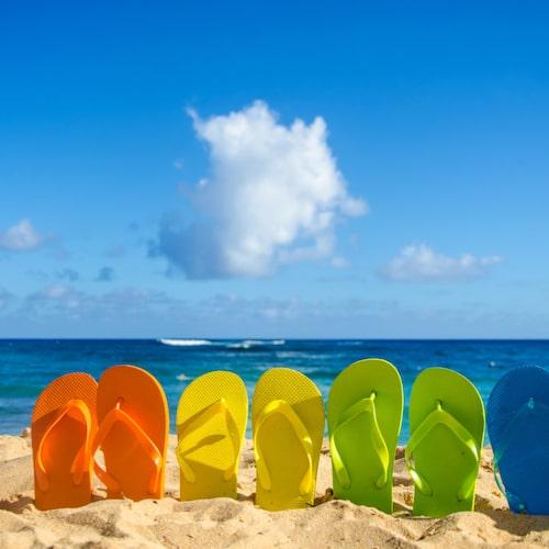 Flippflopps hör hemma på stranden, inte på ett flygplan där en nödsituation kan uppstå.