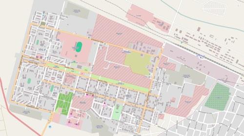Karta över Kapustin Yar.
