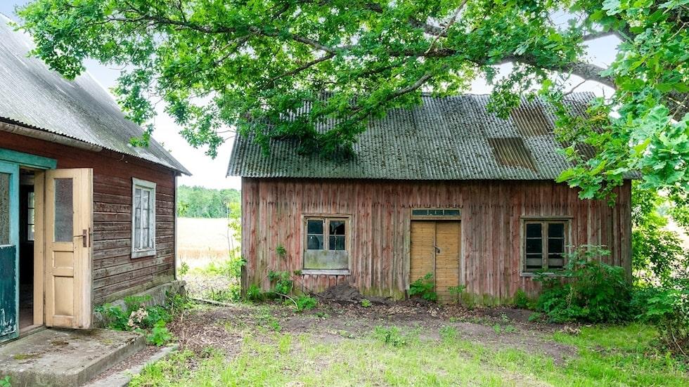 Det gamla skomakartorpet från 1909 nära Visby har stått övergivet i minst 40 år...