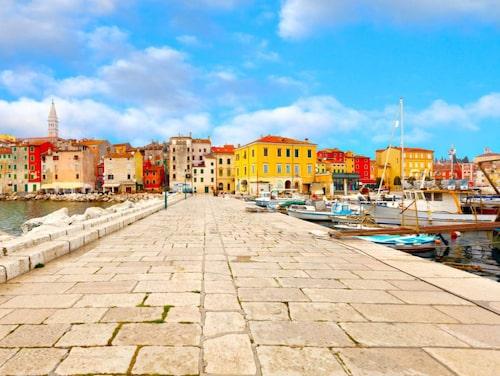 Poreç är centrum för nöjeslivet i Istrien.