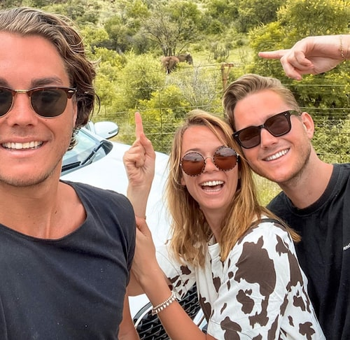 Bästa resan. Med vännerna Emil Ingemarsson och Margaux Dietz från resan i Sydafrika.