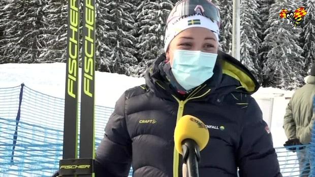 """Okända dramat – Moa Lundgren fick åka med en stav: """"Över 2 km"""""""
