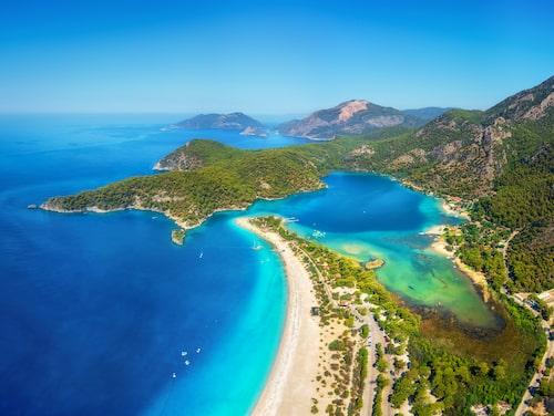 Blue Lagoon i Oludeniz, väster om Antalya.