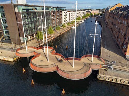 Coola Cirkelbroen i Christianshavn.