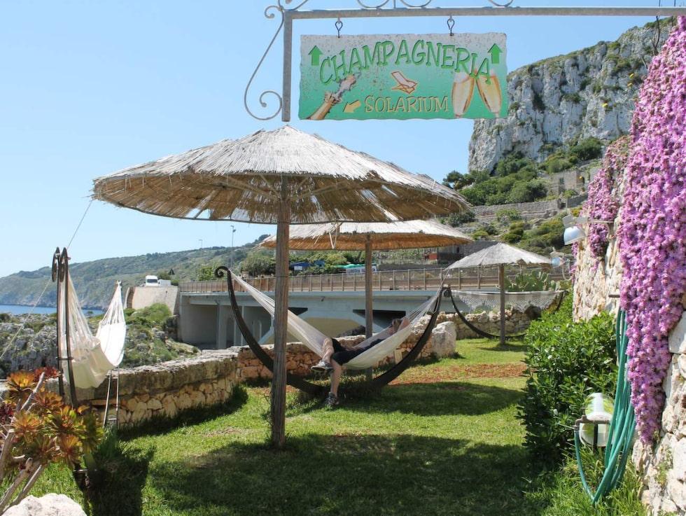 Champagnerian på restaurang L'lncanto i Il Ciolo.