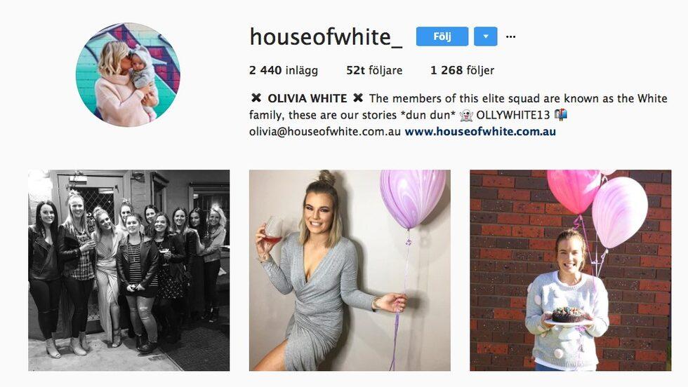 Tvåbarnsmamman Olivia White är bloggare med över 50 000 följare på Instagram.