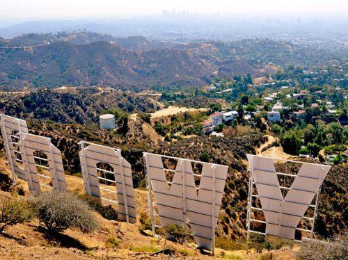 En otrolig panoramavy över La La Land.