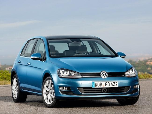 Mest eftersökt är Volkswagen Golf.
