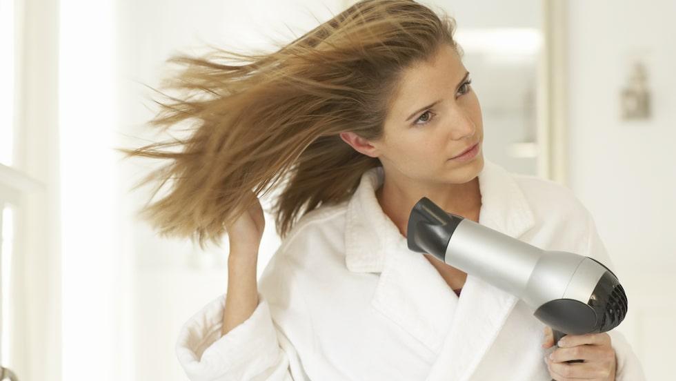 <p>Det är inte alltid tiden finns att torka hårt med hårfön.</p>