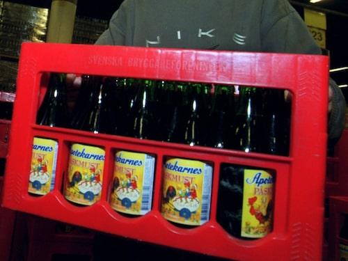 Klassisk drickback som oftast blandades upp med läsk och lättöl.