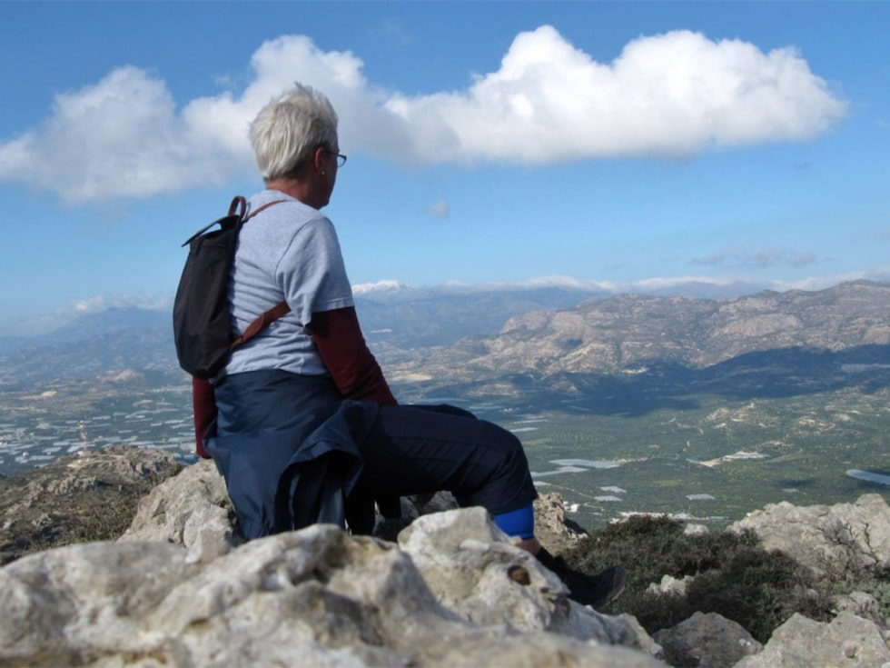 Ia som driver Ia mitt i livet bor på Kreta och skriver om vandringar där.