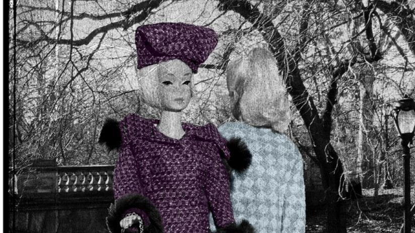 """Meeting i Central Park, purple"" av Lars Tunebo."