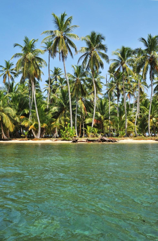 Ön Akwadup är en typisk ö i det karibiska Kuna Yala, Kuna-indianernas land.