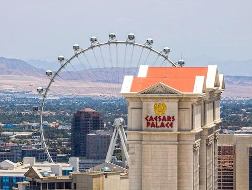 High Roller i Las Vegas ligger nära legendariska Caesars Palace.