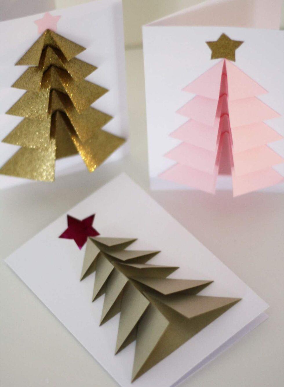 Så här fina kan dina egna julkort bli. Vill du imponera på de du ska skicka julhälsning till är det bara att sätta i gång att pyssla.
